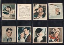 Tobacco Cigarette cards Shots from the films 1934